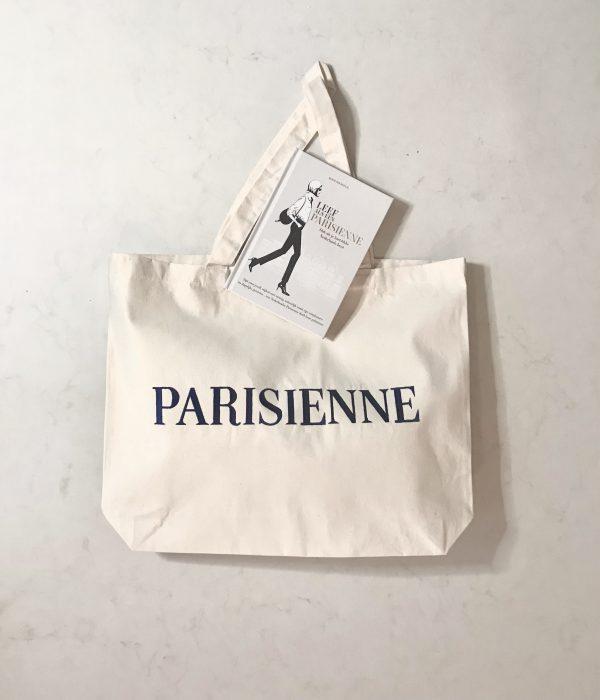 canvas shopper en boek parisienne