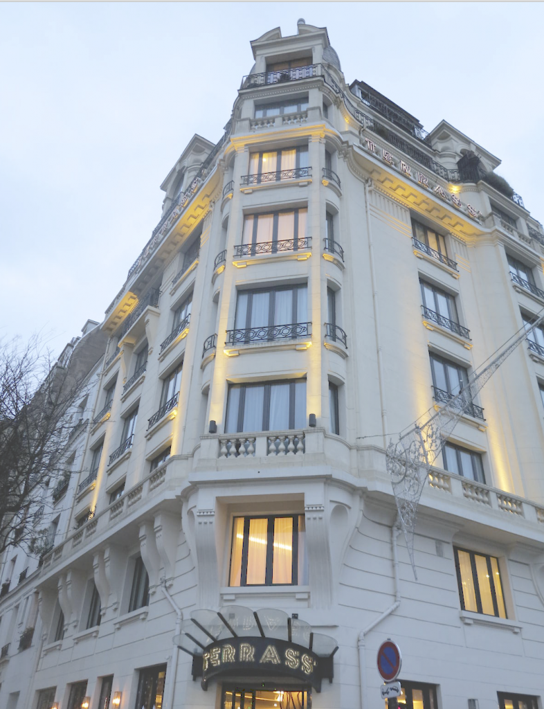 terrasse hotel paris parijs