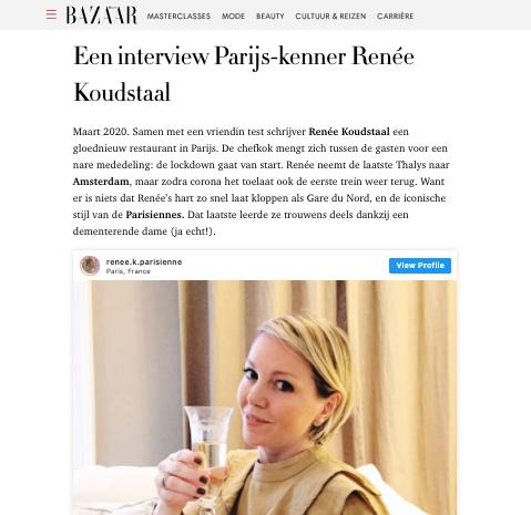 Harpers Bazaar Leef als een Parisienne