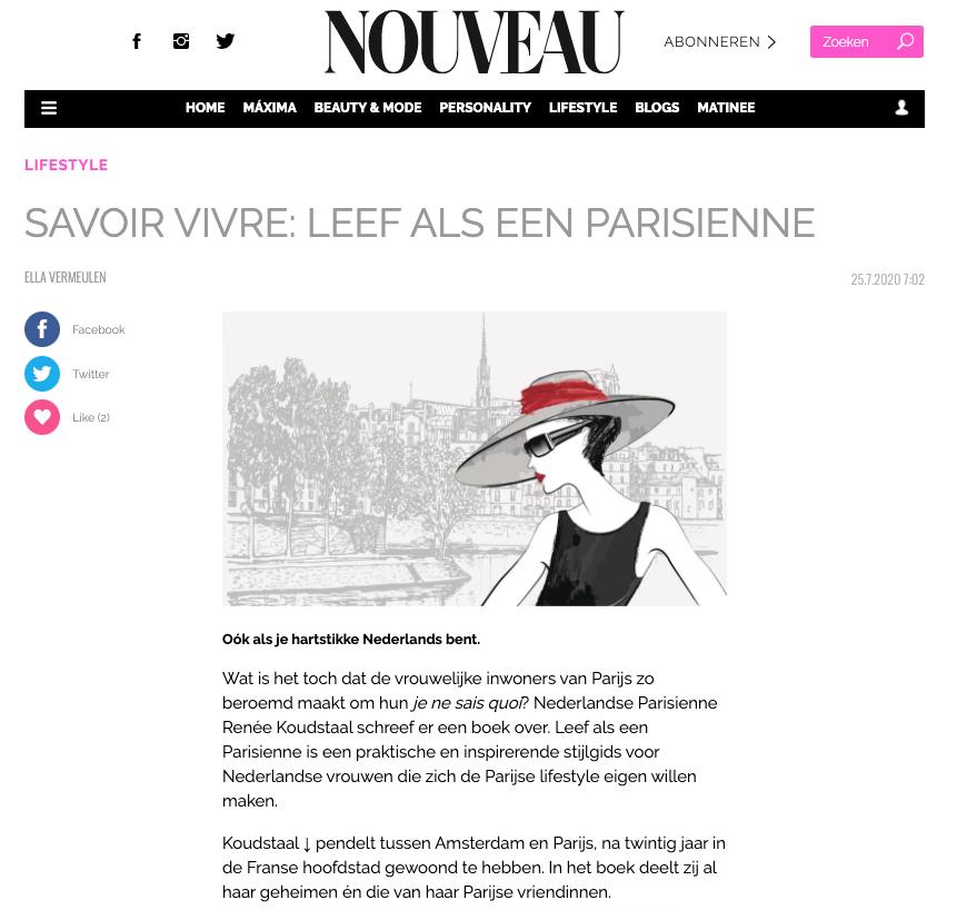nouveau renee koudstaal leef als een parisienne