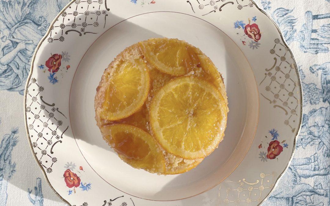 Siciliaans sinaasappeltaartje met hangop